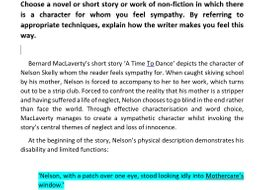 NAT 5 English Critical Essay: 'A Time To Dance' - Bernard MacLaverty (Marked 14/20)