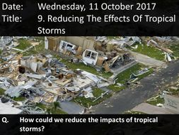 9. Reducing The Effects Of Tropical Storms | Teaching ...