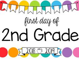 First Day Of School Signs Us Edition Editable Rainbow Pop By