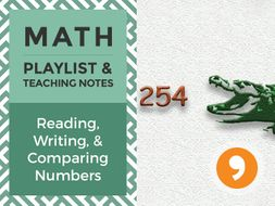 Reading, Writing, and Comparing Numbers – Playlist and Teaching Notes