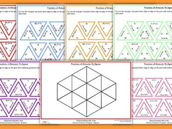 Fractions of Amounts Tarsia Puzzle