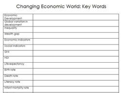 geography revision gcse aqa 9 1 key word sheets by teach tectonic