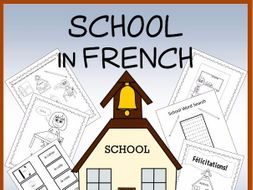 French School Vocabulary Sheets, Printables, Matching & Bingo Games