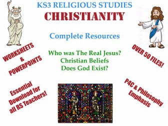 Complete KS3 Christianity Resources (3 Units): 'Who was the real Jesus?', 'Does God Exist?' and ...