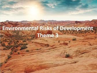 IGCSE Economic Development - Environmental Risks of Development