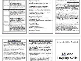 Aide Memoire: Assessment for Learning and Enquiry Skills