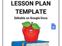 lesson plan template editable in google docs by rombop teaching