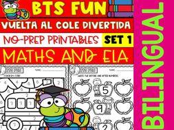 Back to School Fun - Regreso al Cole Divertido - Printables - Set 1 - Bilingual