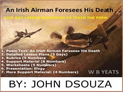 an irish airman foresees his death figures of speech