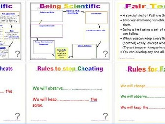 Being Scientific: Working Scientifically in Enquiry and Investigation - Controlling Variables Edit