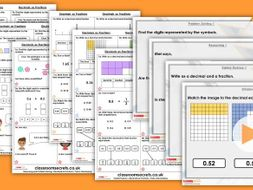 Year 6 Decimals as Fractions Spring Block 1 Step 7 Maths Lesson Pack