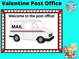 Valentine Post Office Dramatic Play Props