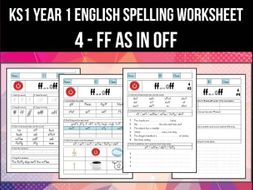 Spelling & Phonics Worksheet - f sound spelled FF by ...