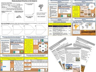 Hot Deserts: AQA Geography All Lessons Bundle