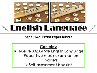 12 x English Language Paper Two Exam Practice Papers Bundle (AQA, 9-1 GCSE)