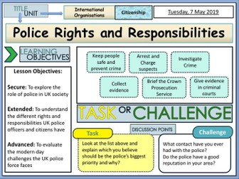 Police Rights and Responsibilities