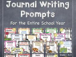 Journal Writing Prompts For the Entire School Year
