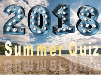 Summer 2018 End of Term Quiz