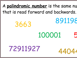 Palindromic numbers