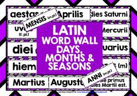 LATIN-DAYS-MONTHS-SEASONS-WORD-WALL.zip