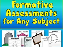 Formative Assessments for Any Subject (Grades 5-12) Google Drive & Print Templates