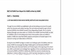 NQT Report template