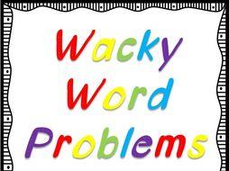 24 Wacky Word Problems