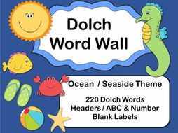 Ocean Dolch Word Wall