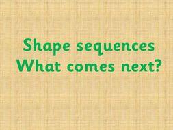 Shape sequences