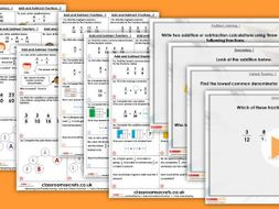 Year 6 Add and Subtract Fractions 1 Autumn Block 3 Step 5 Lesson Pack