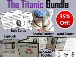 Titanic Task Cards and Activities Bundle