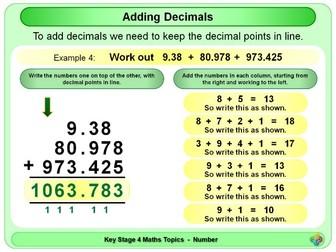 Adding Decimals KS4