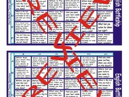 Past Perfect Tense Questions Battleship Board Game