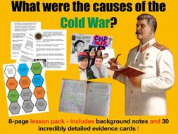 Causes of the Cold War - 8-page full lesson (notes, card sort, work o'clock)