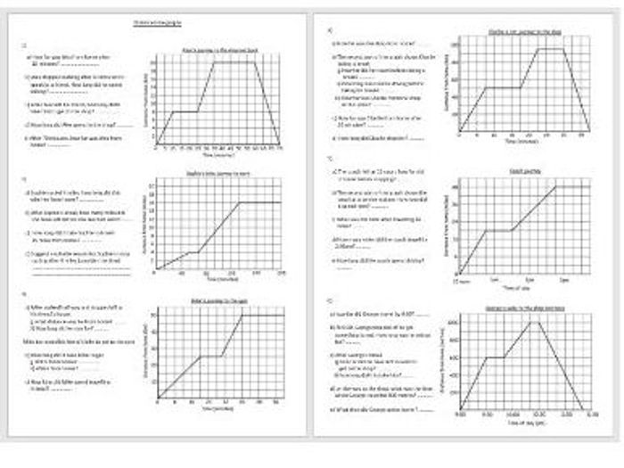 Reading scales and Interpreting distance time graphs (Medium ability) by revelsum - Teaching Resources - Tes
