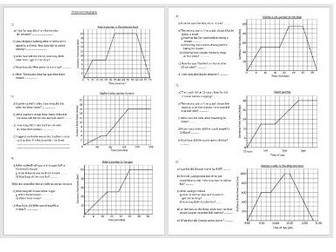Reading scales and Interpreting distance time graphs (Medium ...