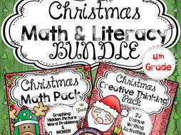 Christmas BUNDLE for 4th Grade