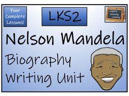 LKS2 History - Nelson Mandela Biography Writing Activity