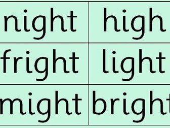 RWI: Read Write Inc Set 2 Green Words (double sided)