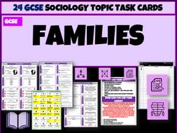 Families Sociology Task Cards