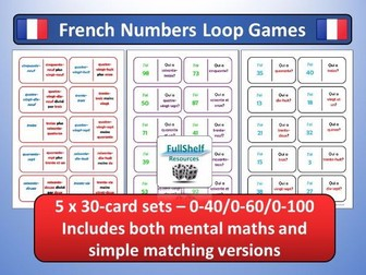 French Numbers Loop Games