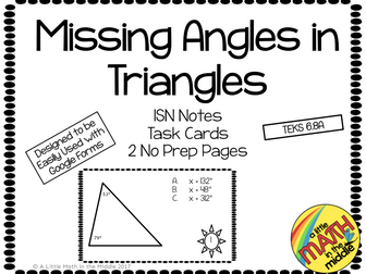 Missing Angle Measure in Triangles
