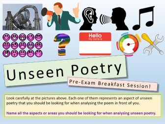 Unseen Poetry - Lessons 1 - 7