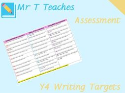 Year 4 Writing Targets Assessment