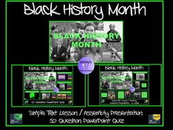 black history black history month simple text powerpoint