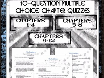The Outsiders: Chapter Comprehension Quizzes