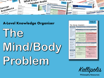 The Mind/Body Problem - Knowledge Organiser