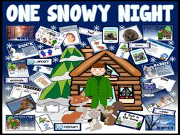 ONE SNOWY NIGHT STORY TEACHING RESOURCES EYFS KS1 PERCY PARK KEEPER WINTER ANIMALS