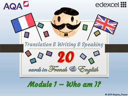 GCSE French - Q&A / Translation Card Set (Module 1: Family & Friends)