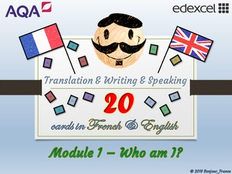 GCSE French - Q&A / Translation Card Set (Module 1: Family & Friends)